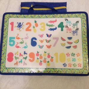 Child's Activity Lap Board W/Bean Bag Padding NWT